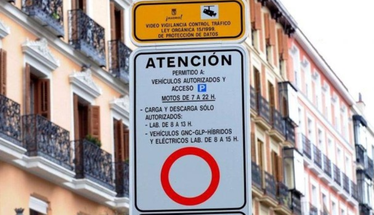 Traffic indication for restricted areas in Palma de Mallorca